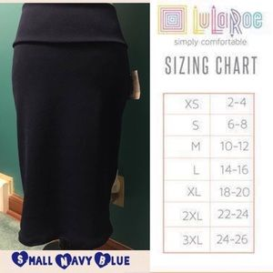 LuLaRoe Small Navy Blue Cassie Skirt